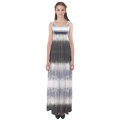 Gray Stripes Empire Waist Maxi Dress by CoolDesigns