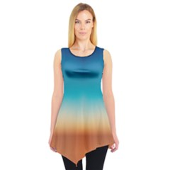 Desert Gradient Tie Dye Tunic Top by CoolDesigns