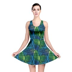 Blue Neon Laser Beams Skater Dress by CoolDesigns