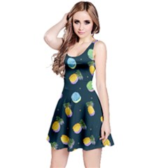 Pineapple In Space Reversible Sleeveless Dress