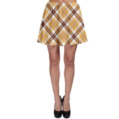Brown Plaid Skater Skirt