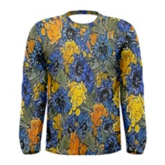 Floral Pattern Background Men s Long Sleeve Tee by Simbadda