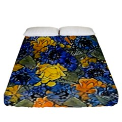 Floral Pattern Background Fitted Sheet (king Size) by Simbadda