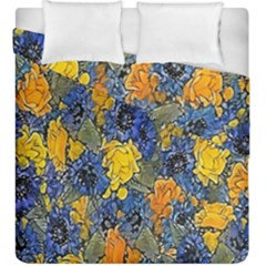 Floral Pattern Background Duvet Cover Double Side (king Size) by Simbadda