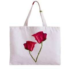 Red Roses Photo Zipper Mini Tote Bag by dflcprints