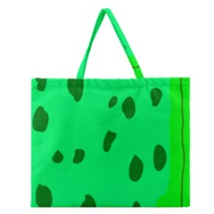 Alien Spon Green Zipper Large Tote Bag by Alisyart