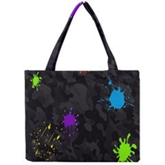 Black Camo Spot Green Red Yellow Blue Unifom Army Mini Tote Bag by Alisyart
