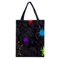 Black Camo Spot Green Red Yellow Blue Unifom Army Classic Tote Bag by Alisyart