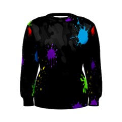 Black Camo Spot Green Red Yellow Blue Unifom Army Women s Sweatshirt by Alisyart