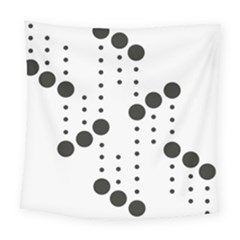 Black Circle Square Tapestry (large)