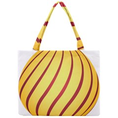 Yellow Striped Easter Egg Gold Mini Tote Bag by Alisyart