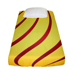 Yellow Striped Easter Egg Gold Fitted Sheet (single Size)
