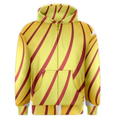 Yellow Striped Easter Egg Gold Men s Zipper Hoodie by Alisyart
