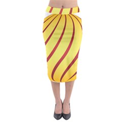 Yellow Striped Easter Egg Gold Midi Pencil Skirt by Alisyart