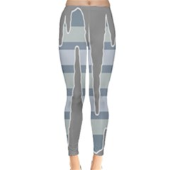 Cavegender Pride Flag Stone Grey Line Classic Winter Leggings