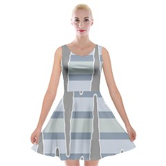 Cavegender Pride Flag Stone Grey Line Velvet Skater Dress