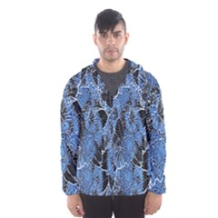 Floral Pattern Background Seamless Hooded Wind Breaker (men) by Simbadda