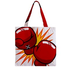 Boxing Gloves Red Orange Sport Grocery Tote Bag