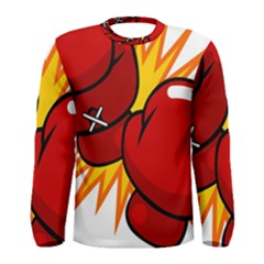 Boxing Gloves Red Orange Sport Men s Long Sleeve Tee