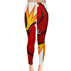 Boxing Gloves Red Orange Sport Classic Winter Leggings