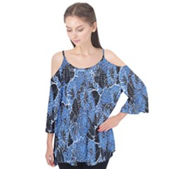 Floral Pattern Background Seamless Flutter Tees