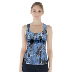Floral Pattern Background Seamless Racer Back Sports Top