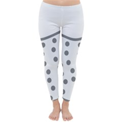 Cool Gel Foam Circle Grey Classic Winter Leggings