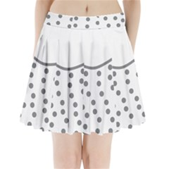 Cool Gel Foam Circle Grey Pleated Mini Skirt