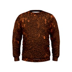 Brown Sequins Background Kids  Sweatshirt