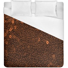 Brown Sequins Background Duvet Cover (king Size)