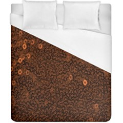 Brown Sequins Background Duvet Cover (california King Size) by Simbadda