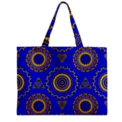 Abstract Mandala Seamless Pattern Zipper Mini Tote Bag by Simbadda