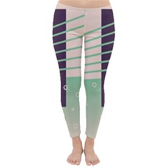 Day Sea River Bridge Line Water Classic Winter Leggings
