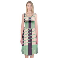 Day Sea River Bridge Line Water Midi Sleeveless Dress by Alisyart