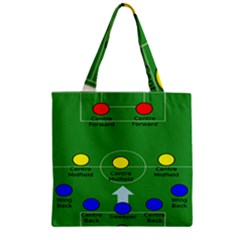 Field Football Positions Zipper Grocery Tote Bag by Alisyart