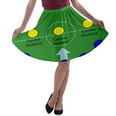 Field Football Positions A Line Skater Skirt by Alisyart