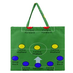 Field Football Positions Zipper Large Tote Bag
