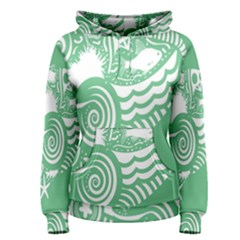 Fish Star Green Women s Pullover Hoodie