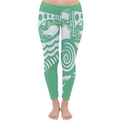Fish Star Green Classic Winter Leggings