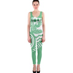 Fish Star Green Onepiece Catsuit