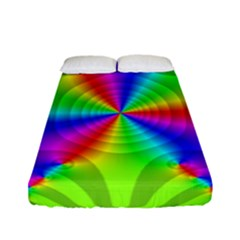 Complex Beauties Color Line Tie Purple Green Light Fitted Sheet (full/ Double Size)