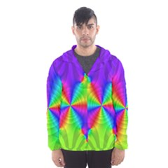 Complex Beauties Color Line Tie Purple Green Light Hooded Wind Breaker (men)