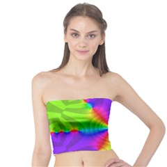 Complex Beauties Color Line Tie Purple Green Light Tube Top