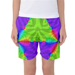 Complex Beauties Color Line Tie Purple Green Light Women s Basketball Shorts