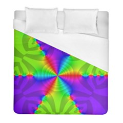 Complex Beauties Color Line Tie Purple Green Light Duvet Cover (full/ Double Size) by Alisyart