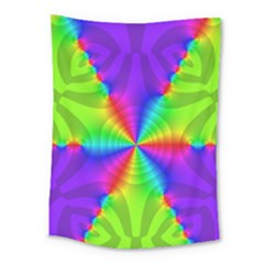 Complex Beauties Color Line Tie Purple Green Light Medium Tapestry by Alisyart