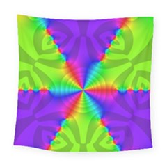 Complex Beauties Color Line Tie Purple Green Light Square Tapestry (large) by Alisyart