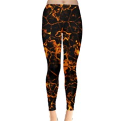 Fiery Ground Leggings  by Alisyart