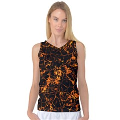 Fiery Ground Women s Basketball Tank Top