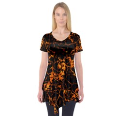 Fiery Ground Short Sleeve Tunic  by Alisyart